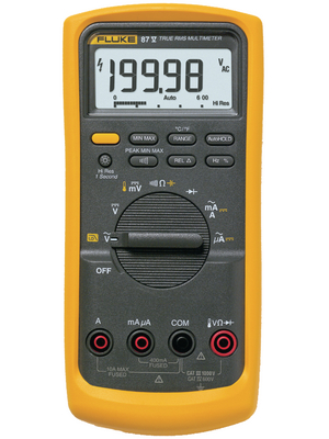 fluke 87 v fluke 87 v truerms industrial digital multimeter fluke 87 v fluke. Black Bedroom Furniture Sets. Home Design Ideas